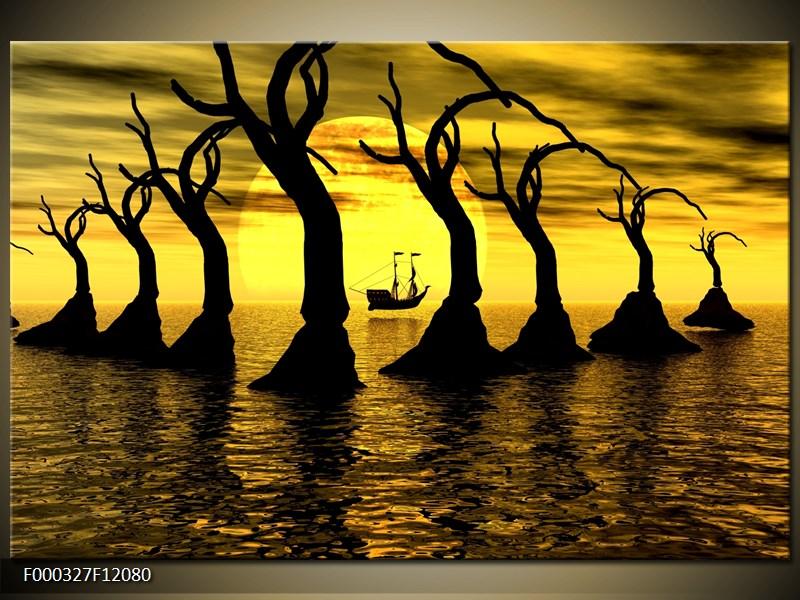 Obraz stromy v moři (F000327F12080)